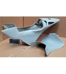 Coque arrière autoporteuse RCV Réplica VFR 90-93 brut profil gauche