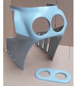 Tête de fourche Sport double optiques 750 / 1100 ZX brut profil droit