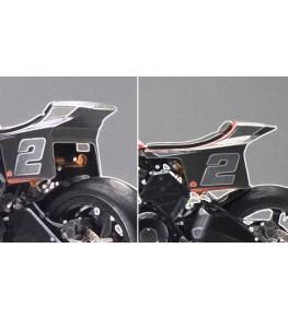 Coque arrière type Dirt Track avec plaques numéros Design 1