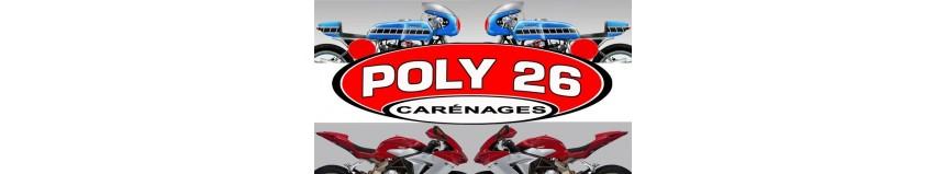Carénages Poly 26, pour la route, la piste, gamme café racer, street bike, youngtimer
