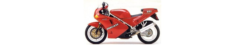 Carénages en polyester pour Ducati Superbike 851 / 888, carénage en 3 parties, bulle incolore, coque arrière monoplace...