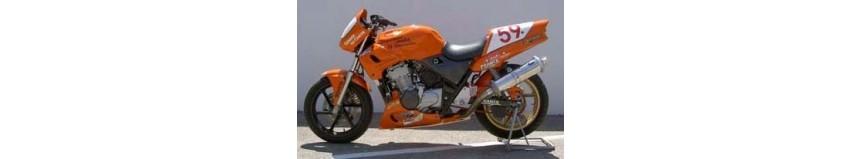 Carénages en stratifié polyester pour Honda 500 CB type PC26, tête de fourche...