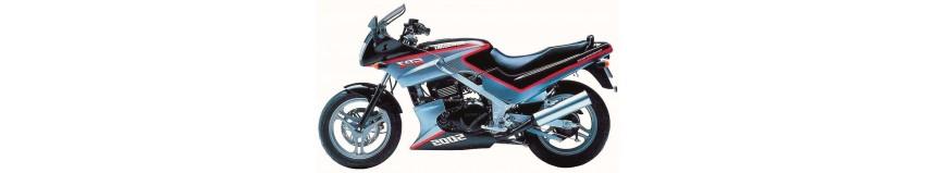 Carénages en stratifié polyester pour Kawasaki GPZ 500 de 1987 à 1993, tête de fourche