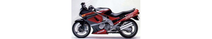Carénages en stratifié polyester pour Kawasaki ZZR 600 de 1990 à 1992, carénage en 2 parties