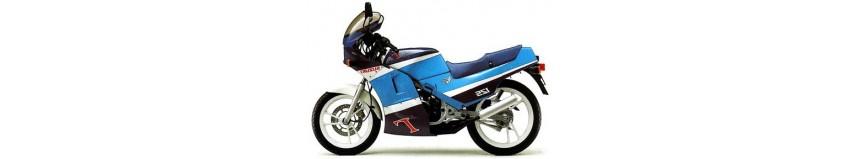 Carénages en polyester pour Suzuki 80 / 125 Gamma de 1989 à 1991, carénage en 4 parties, sabot moteur