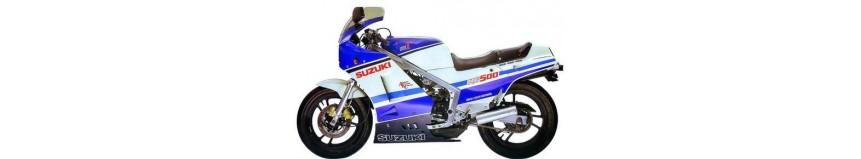 Carénages en polyester pour Suzuki 500 Gamma, carénage en 4 parties, tête de fourche, sabot en 1 ou 2 parties