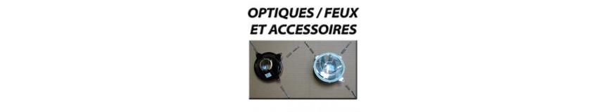 Optiques / Feux et accessoires POLY 26, optiques en diamètre 120 ou 135mm avec vis et ressorts de réglageS