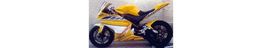 Carénages en polyester pour Yamaha YZF 125 R de 2008 à 2014, carénage en 4 parties, sabot fermé