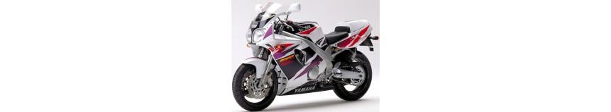 Carénages en polyester pour Yamaha 600 FZR de 1994 à 1995, carénage en 3 parties, garde boue avant