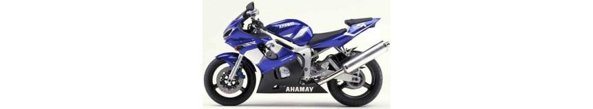 Carénages en polyester pour Yamaha R6 de 1999 à 2002, carénage en 2 parties, fermé pour la piste