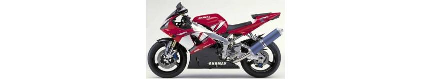 Carénages en polyester pour Yamaha 1000 R1 de 2000 à 2001, carénage en 2 parties, fermé dessous pour la compétition