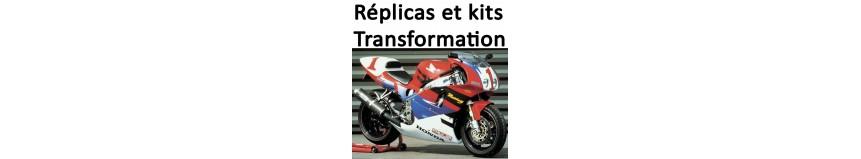 Kits réplica Honda NSR, NR, Yamaha M1, Suzuki SV Rétro, SVXR, changer