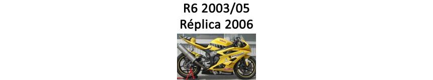 Transformer votre Yamaha R6 2003 à 2005 en Réplica 2006, carénage, coq
